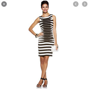 Betsey Johnson Bodycon Lined Dress Stretch Ruched